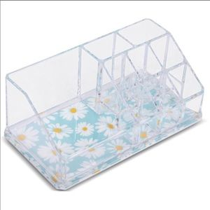 Sorbus Beauty Mini Makeup Organizer Daisy Clear